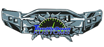 Throttle Down Kustoms Rugged Steel Bumpers Moore Montana Logo